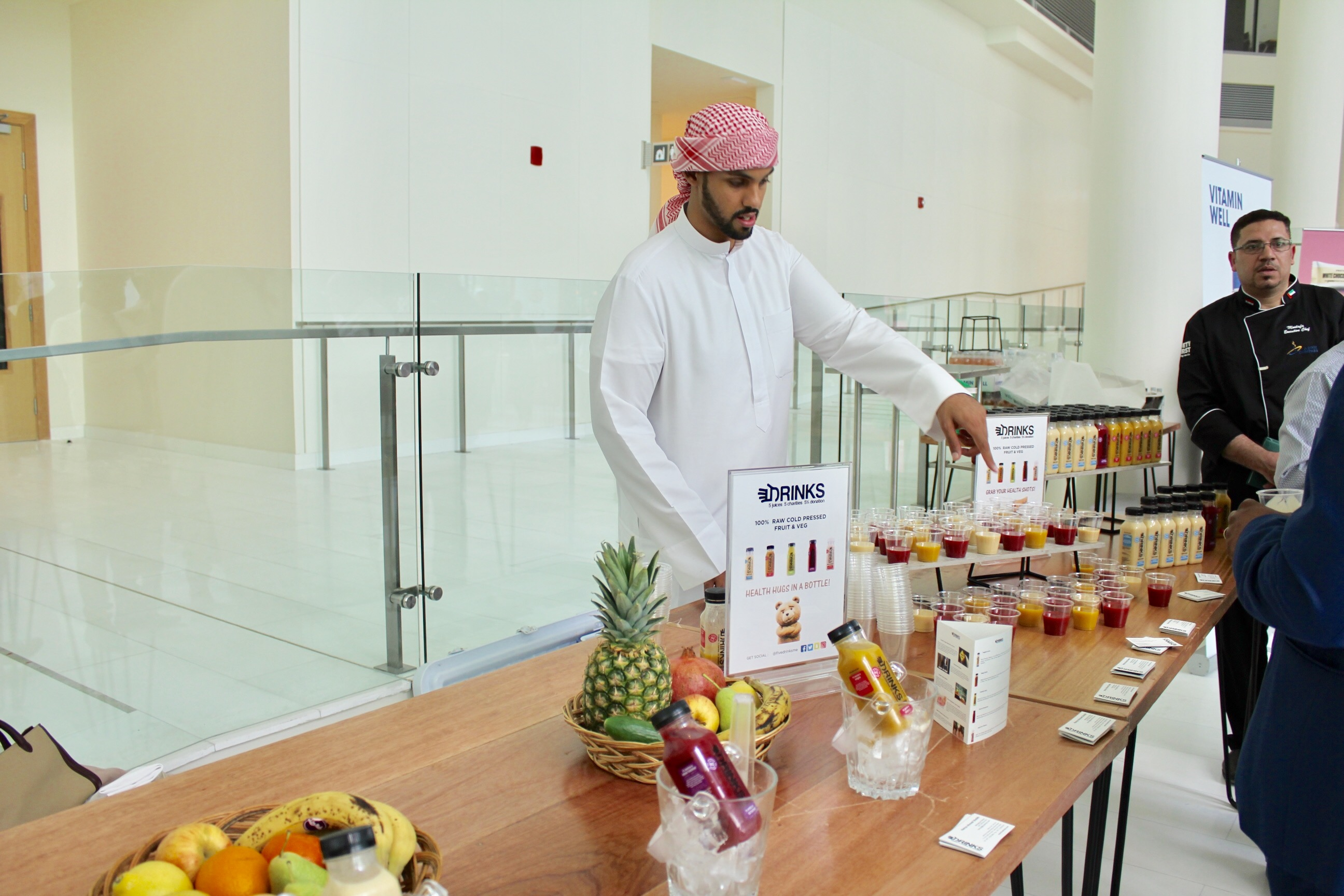 Hamza Ahmed Sheikh owner 5 Drinks cold-pressed juice
