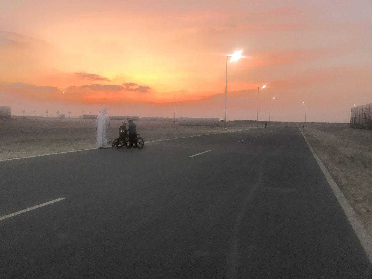 Al Hudayriat Island cycling