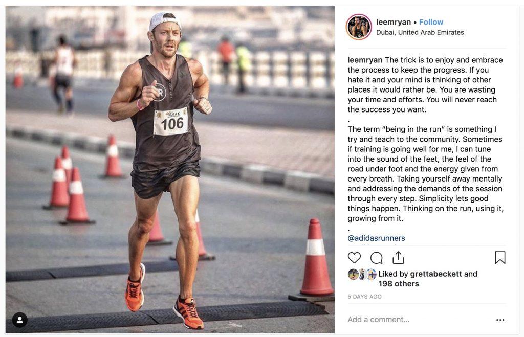 Lee Ryan Dubai marathon