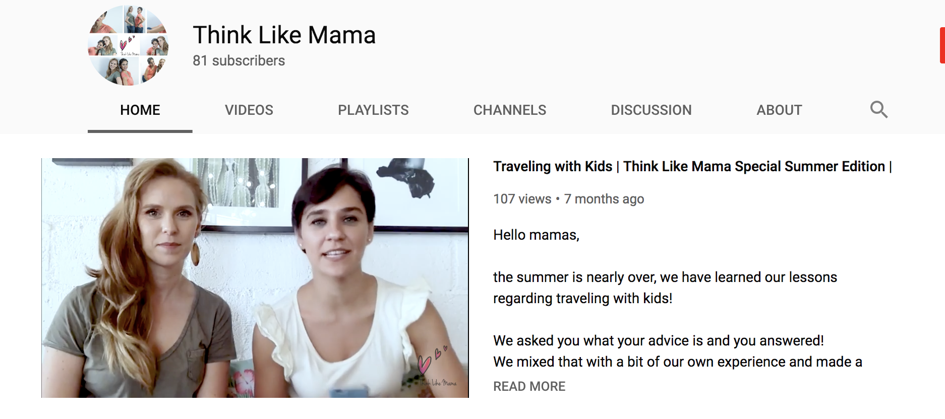 Think Like Mama YouTube