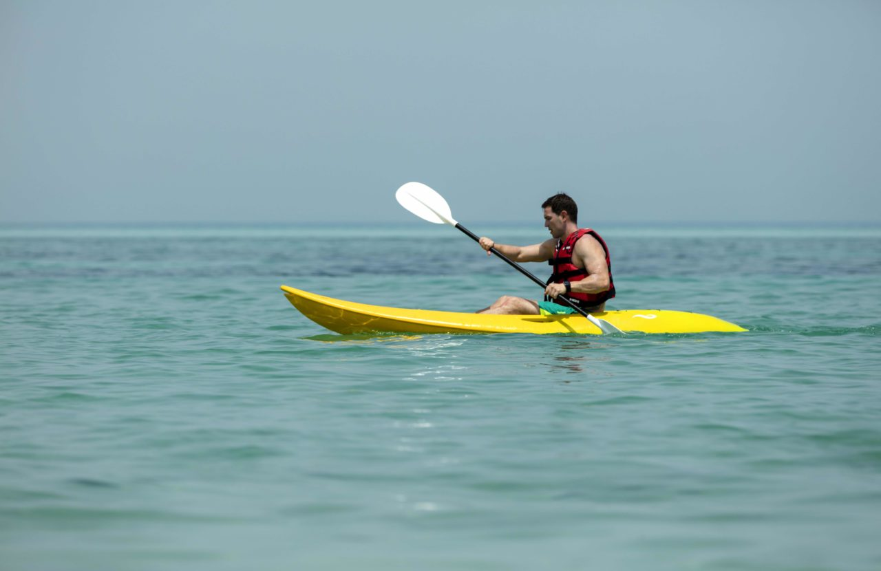 Kayaking at St Regis Saadiyat Island