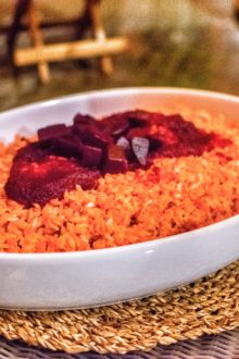 Beetroot risotto Rawkure