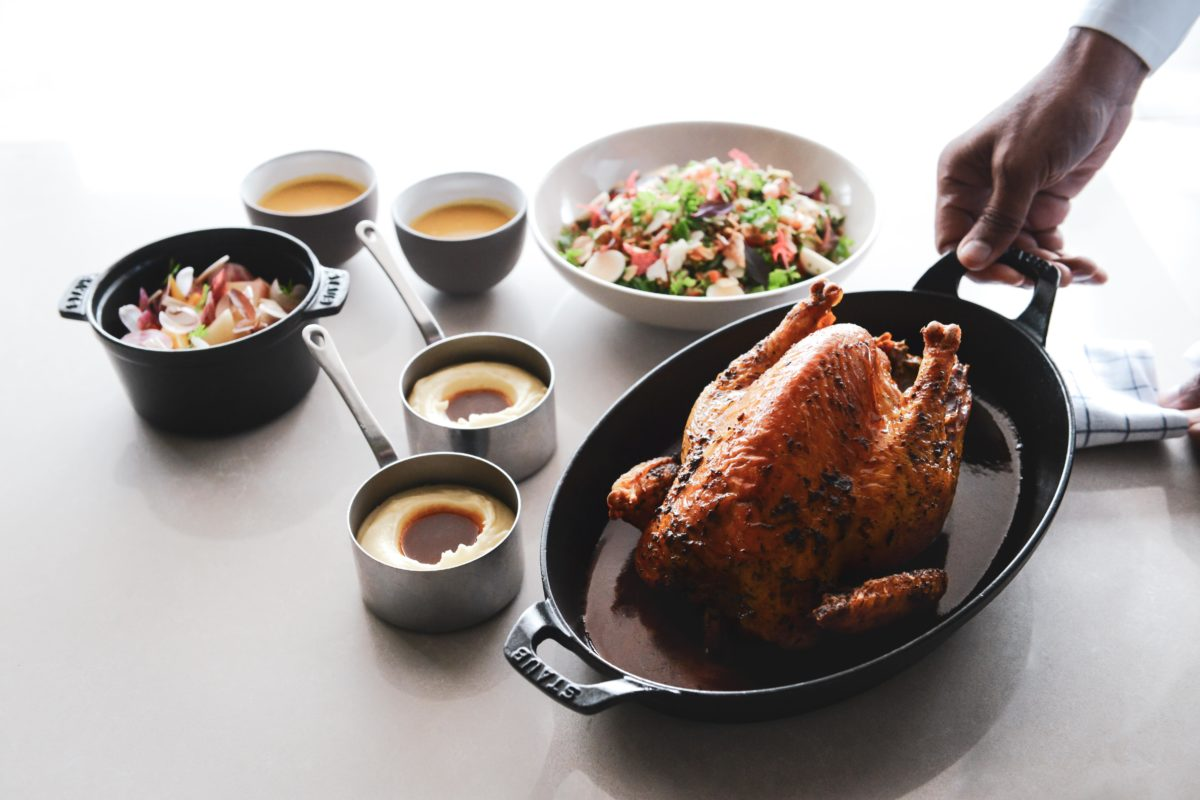 Chef Marcel Ravin's recipe for roast chicken, leftovers and dessert