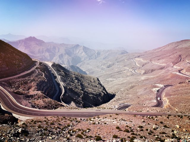 cycling Jebel Jais