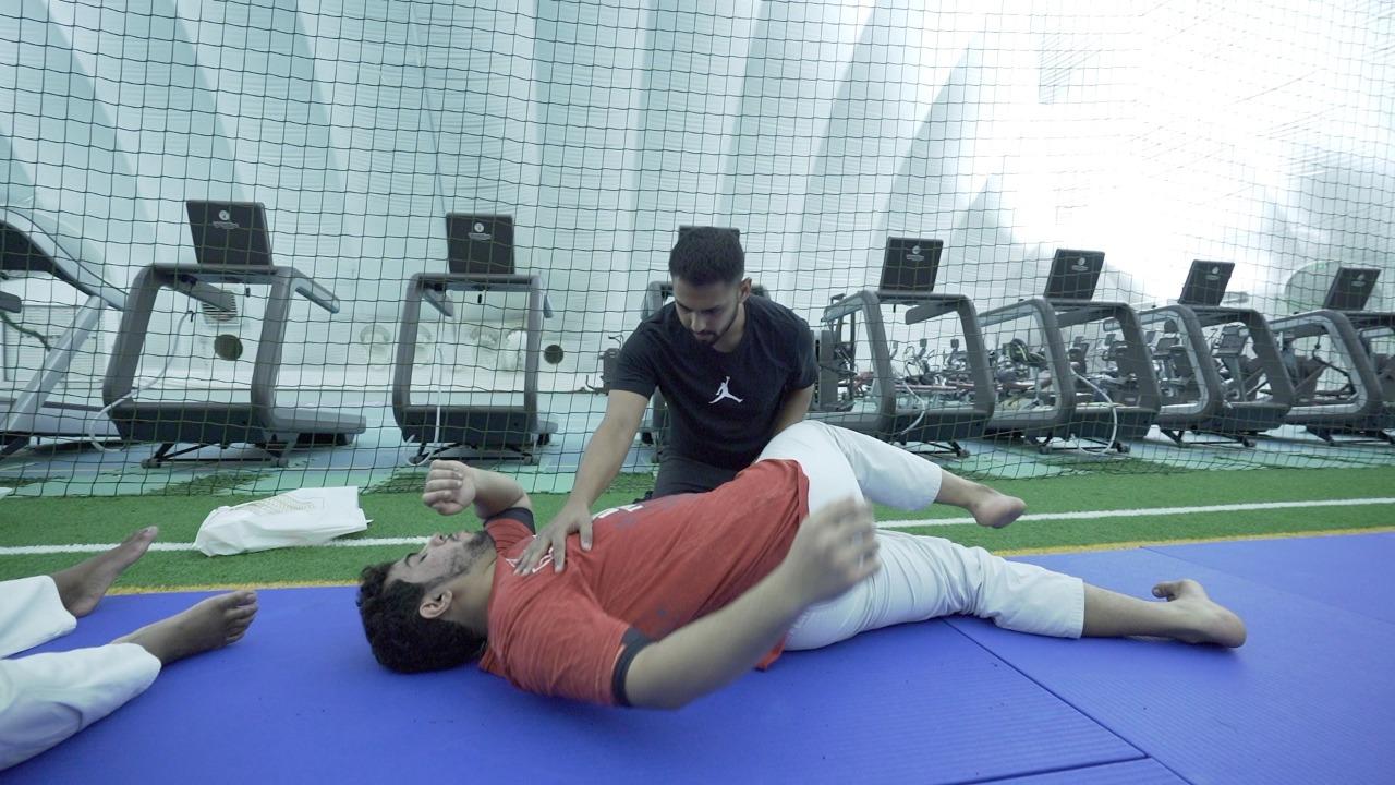 UAE Jiu Jitsu physio HITEN MAISURIA