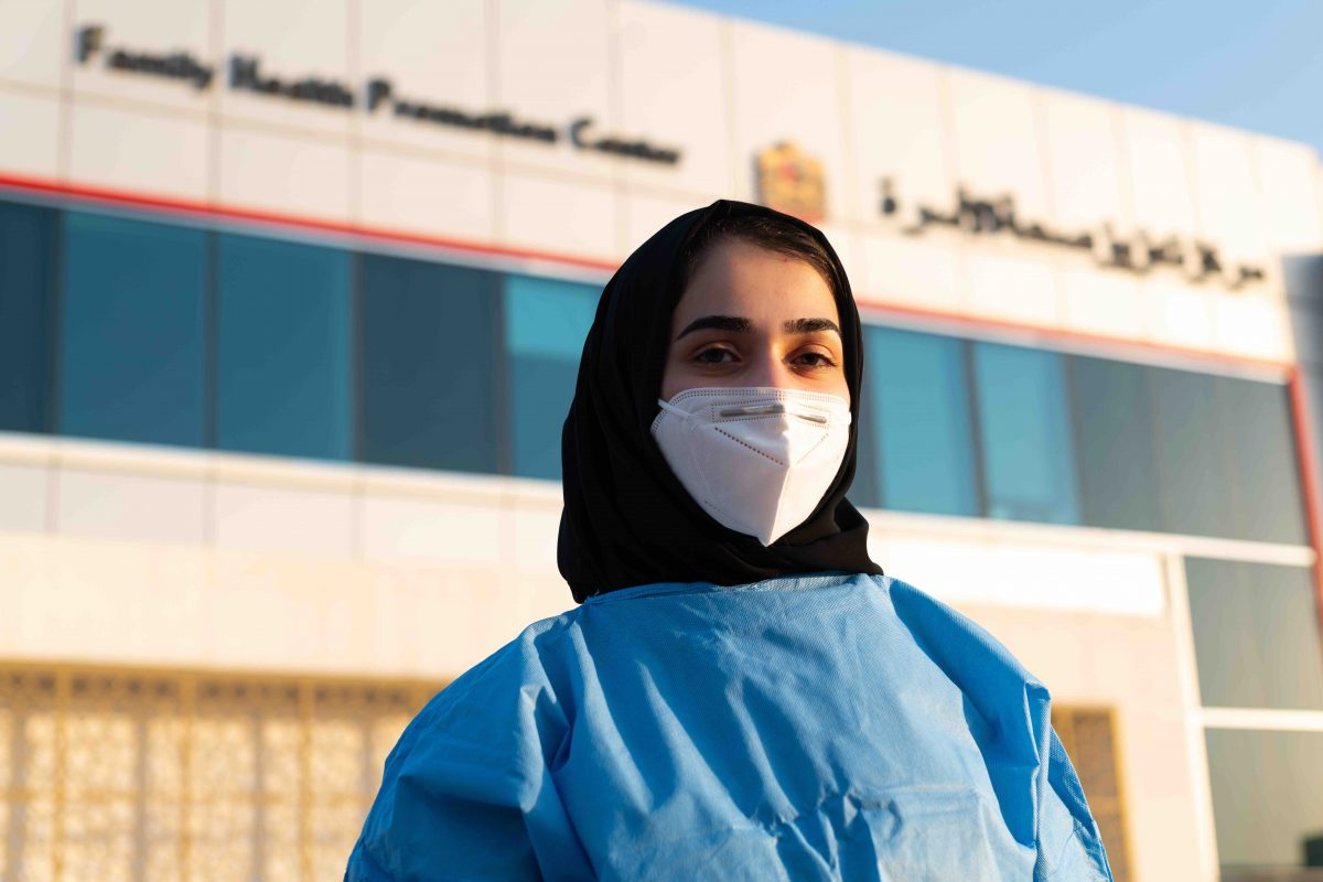 This Ajman medical student is Covid-19 frontline hero