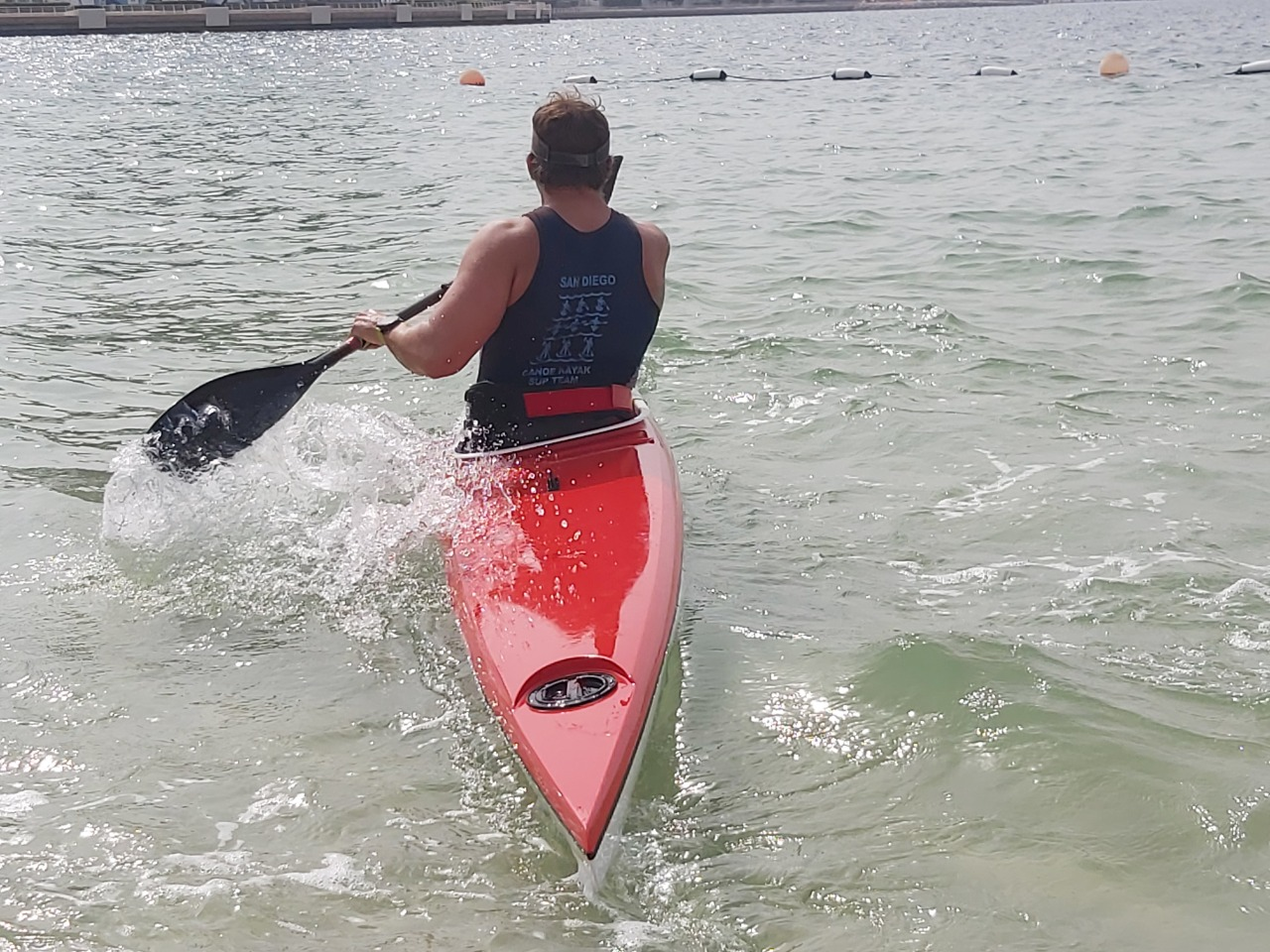 Mike Ballard kayaking