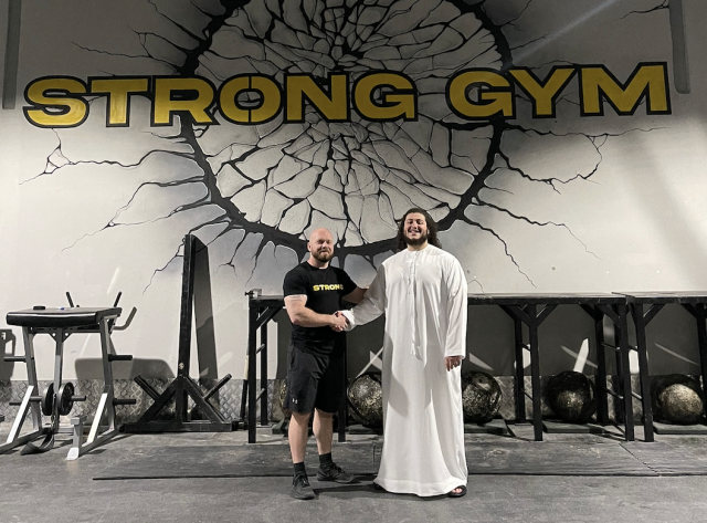 Mark Boyd and Youseff Al Fardan, co-founders Strong Gym